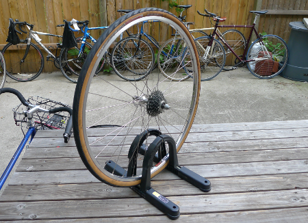 Bicycle Wheel with a Tire Installed