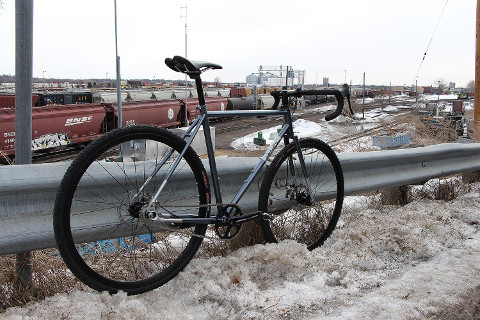 When you commute on a cyclocross bike, a little snow won't get in the way of your ride to work
