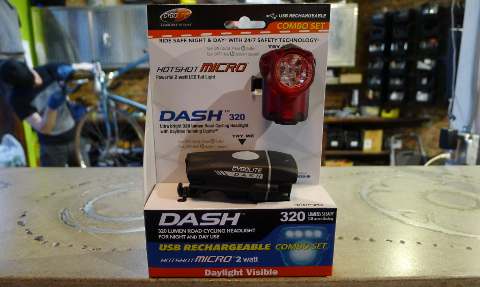 You'll See and Be Seen with the Dash 320 and Hotshot Micro Front and Rear Light Set from Cygolite