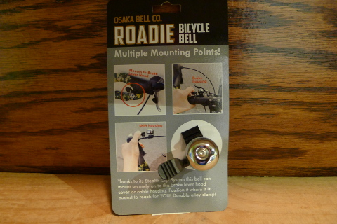 The Osaka Clip On Roadie Bike Bell attaches to your brake hoods or cable housing using a clip instead of a clamp, which allows it to mount to bikes that normally don't have room for a bike bell.