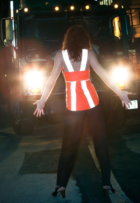 The Vespertine Pocket Tails is a reflective cycling vest that looks amazing while still being bright enough to stop traffic.