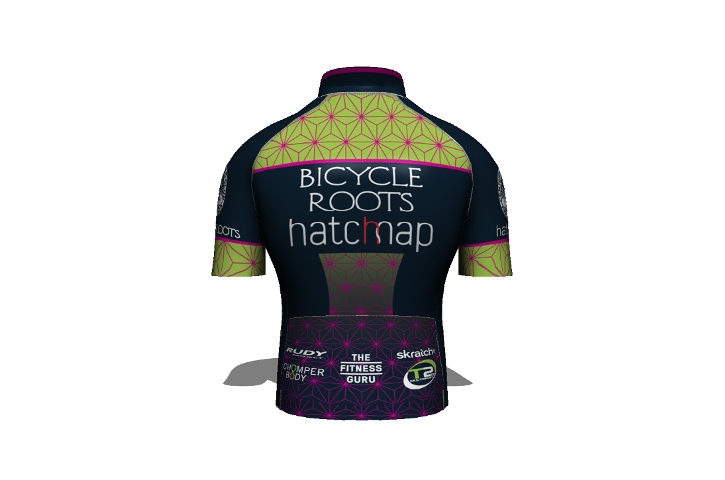 Bicycle Roots p/b Hatchmap Cycling Team Kit - Jersey Back