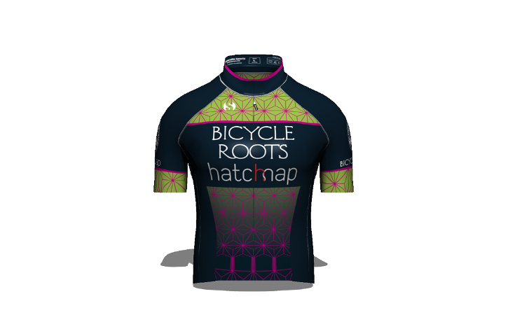 Bicycle Roots p/b Hatchmap Cycling Team Kit - Jersey Front