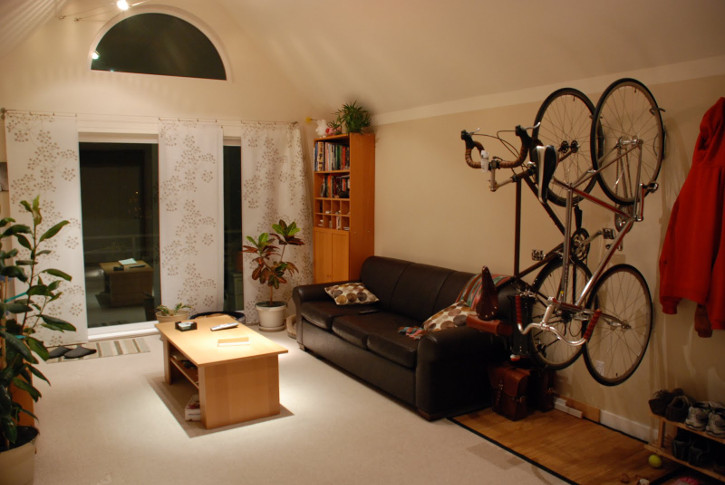 Bike Storage in a Small Apartment