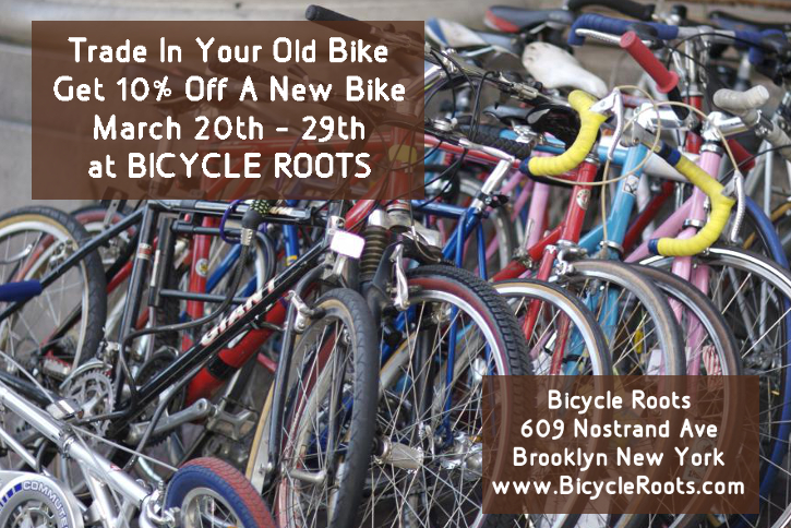 Bicycle Roots Trade In Event Flyer