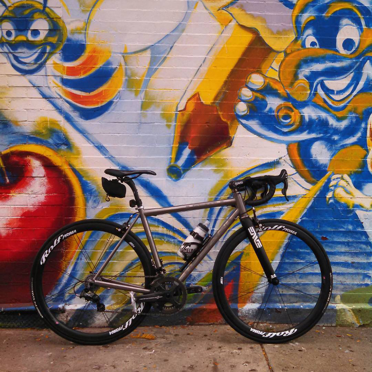 A Dean El Vado road bicycle prototype spotted in the wild in Brooklyn