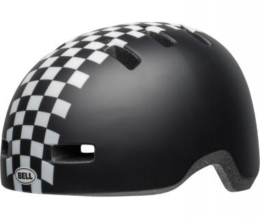 Bell Lil Ripper Children's Helmet (2019) Matte Black White Front Left