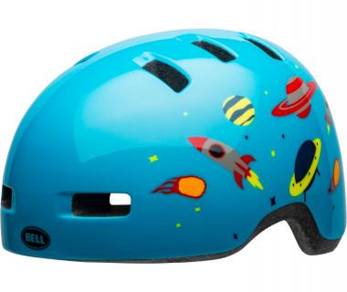 Bell Lil Ripper Children's Helmet (2020) Space Gloss Light Blue Front Left