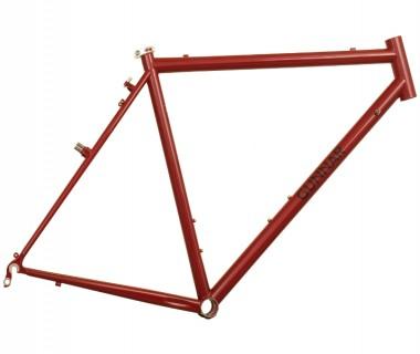 Gunnar Cycles CrossHairs Frame Garnet Metallic with Black Bullseye Decals Right
