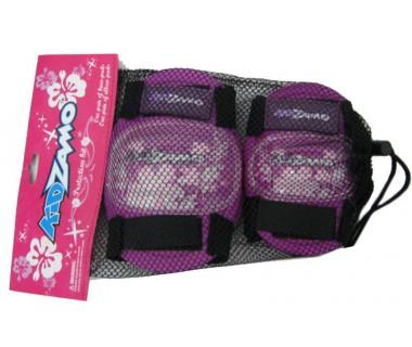 Kidzamo Protection Kit-One pair of Knee Pads /& One Pair of Elbow Pads Red Kids