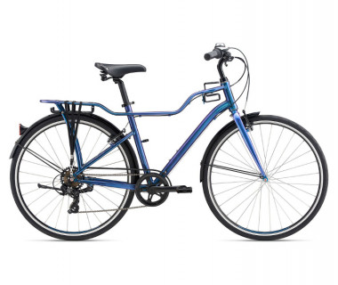 Momentum iNeed Street Mid-Step Bike (2021) Chameleon Blue