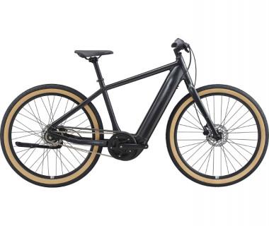Momentum Transend E+ GTS 28MPH Electric Bike (2021) Metallic Black Profile