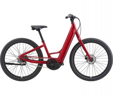 Momentum Vida E+ LDS 20MPH Electric Bike (2021) Metallic Red Profile