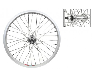 "WM Front Wheel: 16x1.5 Alloy Rim/3/8"" Bolt On Hub/14g Spokes"