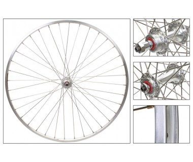 "WM Front Wheel: 27"" Sun M13 36h Rim/Origin8 RD-2100 Sealed Bearing QR Hub"