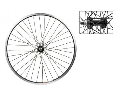WM Front Wheel: 24x1.5 Weinmann 519 36h Rim/Bolt On Hub/Black