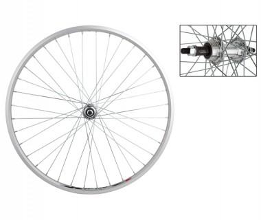 WM Rear Wheel: 26x1-3/8 Weinmann ZAC20 36h Rim/5-7 Speed Freewheel Hub