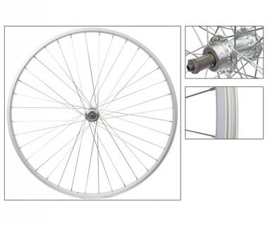 WM Rear Wheel: 27x1-1/4 Alloy Rim/5-7 Speed Freewheel QR Hub