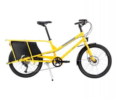 Yuba Kombi Cargo Bike (2020) Orange Side View