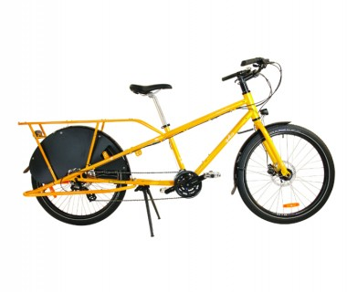 Yuba Mundo V5 LUX Cromoly 24 Speed Cargo Bike - Profile View