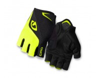 Giro Bravo Short Finger Glove (2016) - Black/Highlighter Yellow