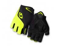 Giro Bravo Short Finger Glove (2016) - Black/Highlighter Yellow