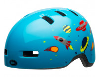 Bell Lil Ripper Children's Helmet (2020) Space Gloss Light Blue Front Left