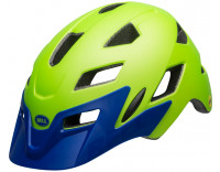 Bell Sidetrack Children's Helmet (2019) Gnarly Matte Bright Blue/Bright Green Front Left