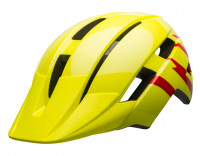Bell Sidetrack Children's Helmet (2020) Strike Gloss Hi-Viz/Red Front Left