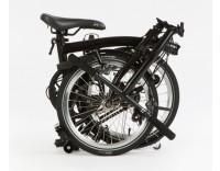 Brompton S6L Black Edition Folding Bike (Folded)