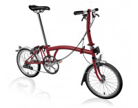 Brompton S2L Folding Bike w/ Marathon Racer Tires, FCB (2020) House Red