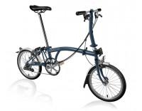 Brompton S6L Folding Bike w/ FCB (2020) Tempest Blue