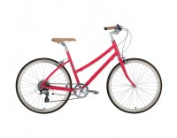 Civia Lowry 7 Speed Step Through Bike Red Gray Side