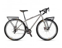 Dean Bikes Trans-Alp Adventure Tour Frame - Profile View, with Drop Handlebars and Racks