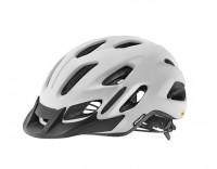 Giant Compel MIPS Helmet Matte White Front Left Angle