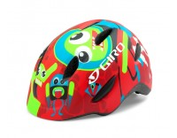 Giro Scamp Youth Helmet, Matte Red Rocket Buddies, Front