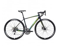 Liv Avail 1 Disc Bike (2016) Dark Blue/Turquoise/Lime Right