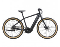 Momentum Transend E+ GTS 28MPH Electric Bike (2021) Metallic Black Profile