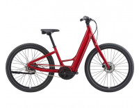 Momentum Vida E+ LDS 20MPH Electric Bike (2021) Metallic Red Profile