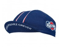 """Rustine"" Cycling Cap by Velo Orange (Blue, Side)"
