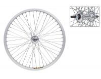 "WM Front Wheel: 20x1.75 Weinmann ZAC30 36h Rim/3/8"" Hub/Silver"