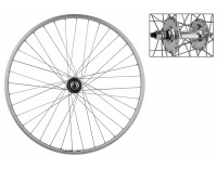 WM Rear Wheel: 27x1 Weinmann LP18 36h Rim/Formula Fixed/Free Bolt On Hub/Silver