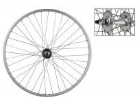 WM Rear Wheel: 27x1 Weinmann LP18 36h Rim/Formula Fixed/Free Bolt On Hub/Silver