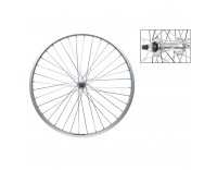 WM Front Wheel: 26x1.5 Alloy 36h Rim/3/8'' Bolt On Hub/14g Spokes/Silver