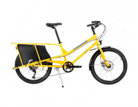 Yuba Kombi Cargo Bike (2020) Orange Side View