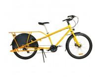 Yuba Mundo V5 LUX Cromoly 24 Speed Cargo Bike - Profile View