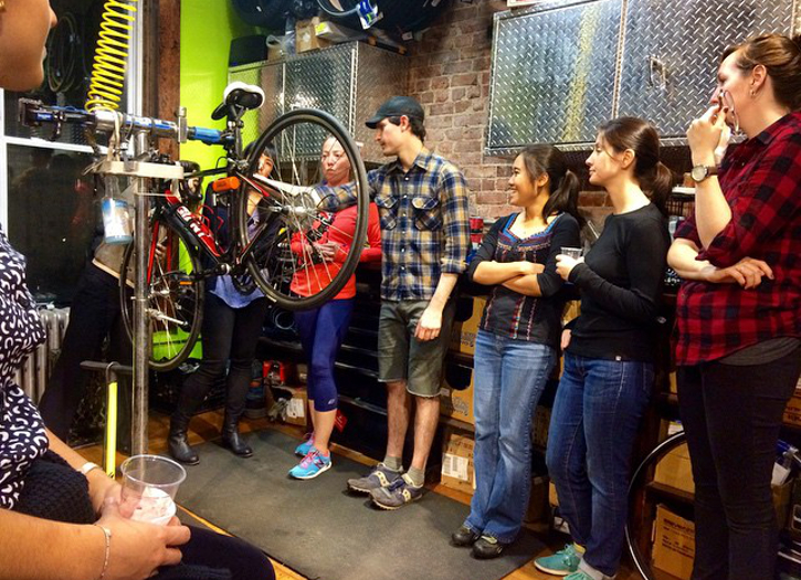 Bike Repair Class in Session at Bicycle Roots